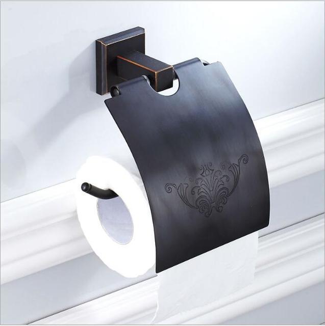 Wc Papier Zwart.Us 23 72 33 Off Bad Papier Houder Badkamer Tissue Houder Zwart Olie Geborsteld Vierkante Wc Papier Doos Rolhouder Badkamer Accessoires In Bad Papier