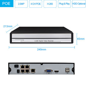 Image 2 - Keeper H.265 4CH 1080P HD POE NVR CCTV System 4PCS 2.0MP Outdoor IP Camera Waterproof P2P Onvif Security Surveillance System