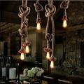 Mordern corda Retro Edison Luzes pingente luzes Estilo Americano lustre de ferro industrial Loft restaurante bar diningLamp Aranha DIY
