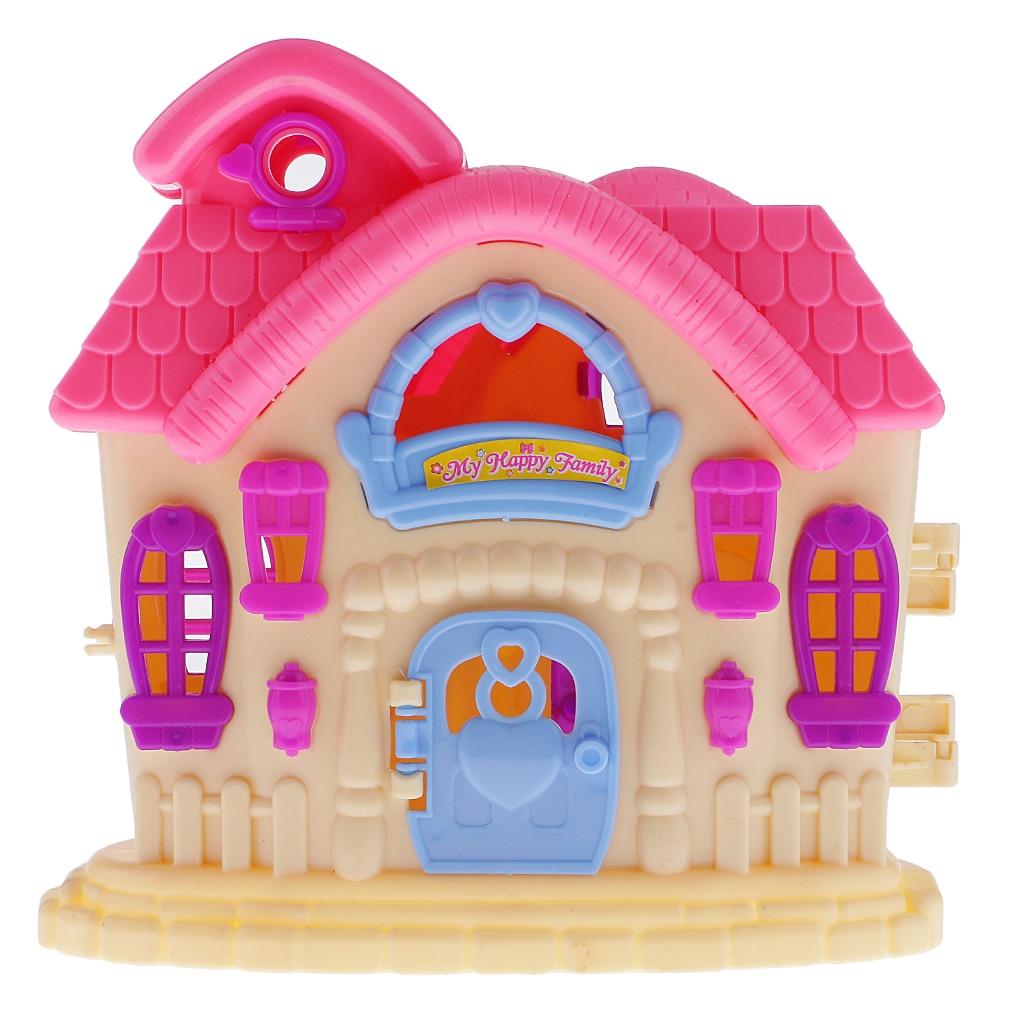 Разные цвета Куклы игрушка вилла дом для Барби Куклы Мебельная фурнитура малыш Притворись игрушка Рождественский детский подарок на день р...