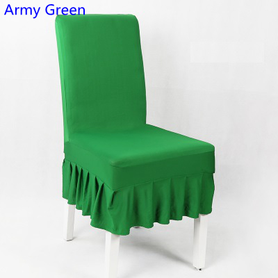 Cool Us 3 0 Army Green Colour Lycra Chair Cover With Skirt All Around The Chair Half Style Spandex Chair Cover Wedding Party Home Decoration In Chair Inzonedesignstudio Interior Chair Design Inzonedesignstudiocom