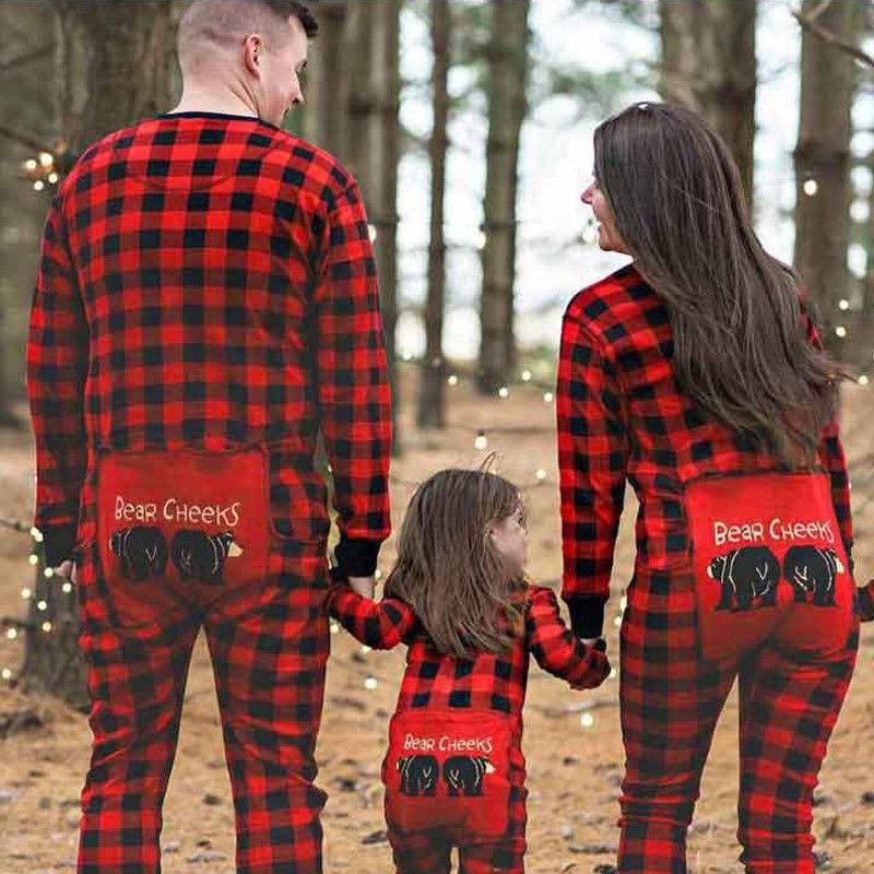 92d770ff57 New Dad Mom Kids Baby Sleepwear Parent-child Red Plaid Pyjamas Christmas  Nightwear Family Matching Christmas Pajamas