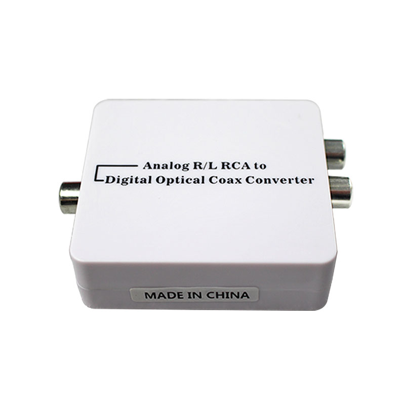 Wiistar Analog to Digital Audio Converter Optic Coaxial RCA Toslink Signal Conver with DC cable