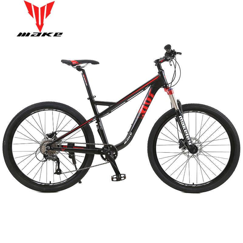 """MAKE горный велосипед алюминиевая рама SHIMAN0 27 скоростей 27,5"""" колеса гидравлические дисковые тормоза MTB"""