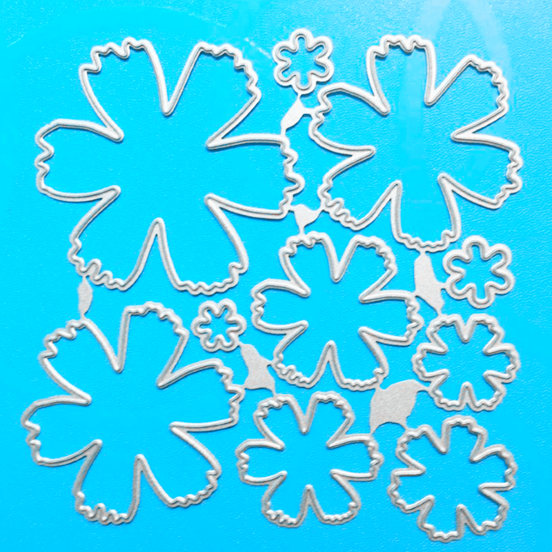 YLCD383 Flower Metal Cutting Dies For Scrapbooking Stencils DIY Paper Album Cards Decoration Embossing Folder Die Cuts Template