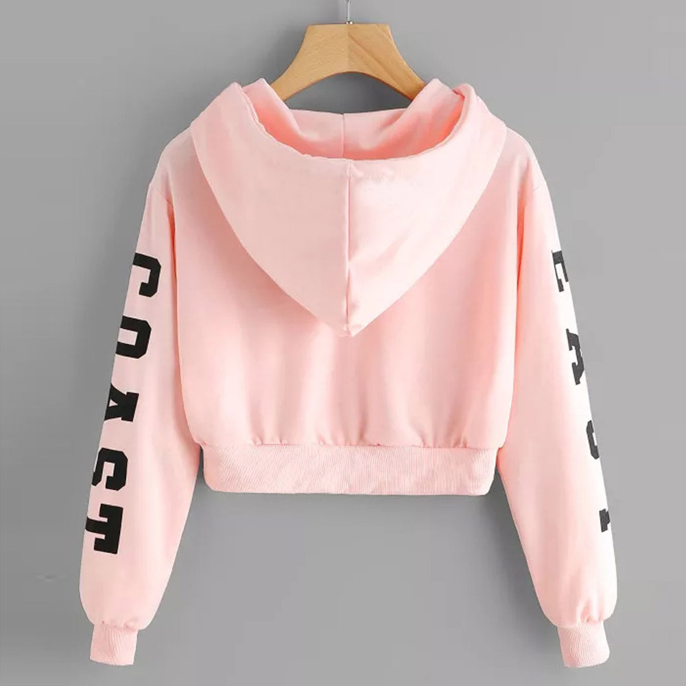 KANCOOLD Top Sweatshirts Women Letters Long Sleeve Hoodie Sweatshirt Pullover Tops Causal high quality sweatshirt women 18DEC6 9