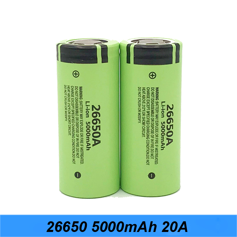 100% Original Battery For <font><b>26650A</b></font> 3.7V 5000mAh High Capacity 26650 Li-ion Rechargeable Batteries for vaporizer/Box mod power tool image