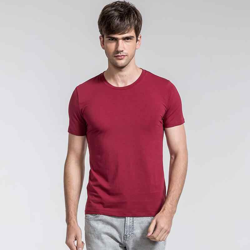 Men's T-Shirts plus size 5XL Summer short sleeved fashion solid color t shirt men High-quality cotton casual brand tee shirt men