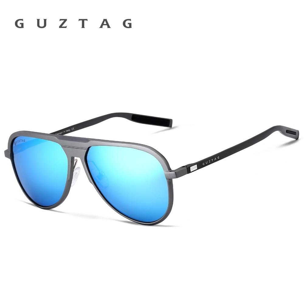 GUZTAG Unisex Classic Brand Män Aluminium Solglasögon HD - Kläder tillbehör - Foto 2