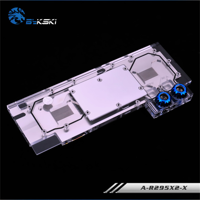Bykski Full Coverage GPU Water Block For Public version full range of R9 295x2 Graphics Card A R295X2 X-in Fans & Cooling from Computer & Office    3