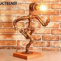 American vintage настольная лампа древесины бар украшения персонализированные настольная лампа источник света
