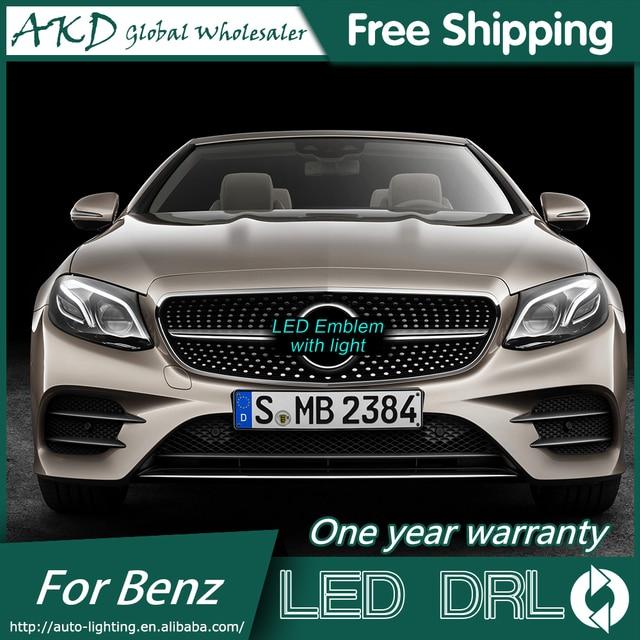 AKD Voiture pour Mercedes Benz A200 A MENÉ LA Lumière D'étoile DRL CALANDRE LOGO LED lumière Diurne Accessoires Automobiles