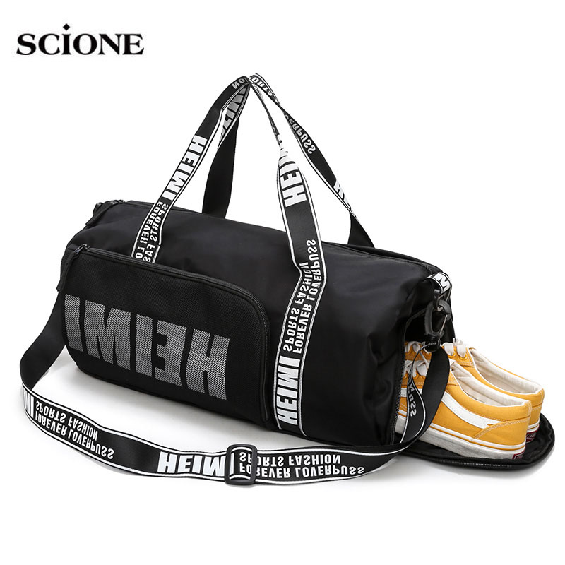 d1575bcbaa Mouse over to zoom in. Yoga Fitness Gym bags Nylon Bag Letters Printing  Handbags For Women Shoes Tas Travel Training Waterproof ...