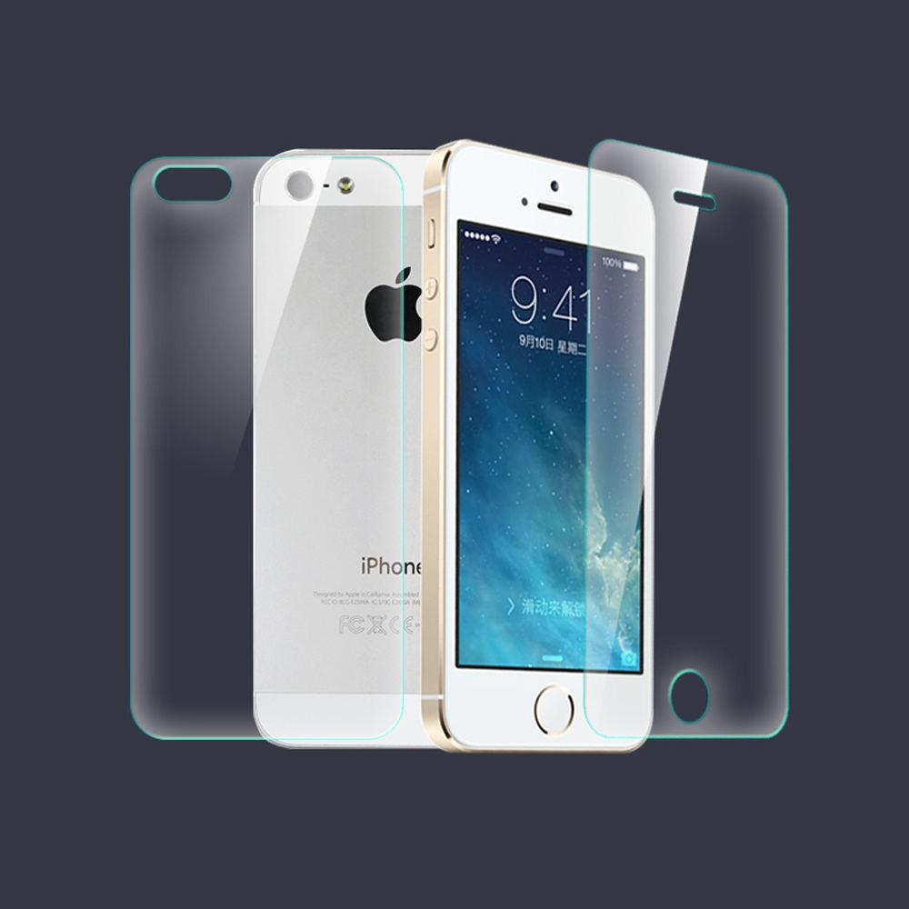 9H Front + Back Tempered Glass For iPhone 4 4S 5 5S 5C 6 6S plus 8 7plus XS MAX