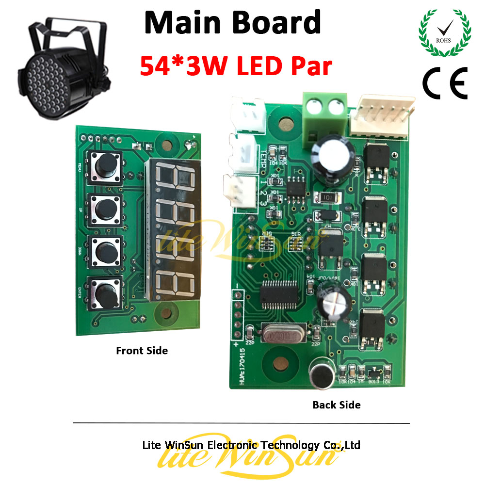 Litewinsune Free Ship LED Par 54*3W Stage Lighting Main Board Display Board Parts Par LED Stage Lighting Accessory