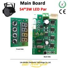 цена на Litewinsune Free Ship LED Par 54*3W Stage Lighting Main Board Display Board Parts