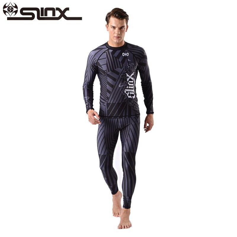 SLINX 0.5 MM 2-pièces Lycra Hommes Combinaison Anti UV Beachwear Plongée Peau Balnéaire Veste Pantalon Surf Planche À Voile Maillots De Bain