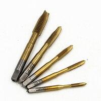 5PCS Set HSS 6542 M2 Hand Tap M3 M4M5 M6 M8 Spiral Point Tap Straight Flute
