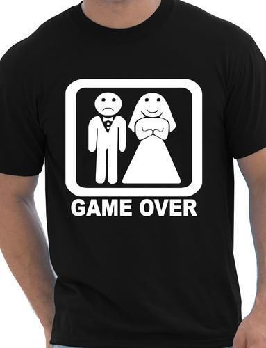 Game Over Fancy Dress Funny T Shirt Party Husband Wedding Tee Stag Do Gift Wife New T Shirts Funny Tops Tee New Unisex Funny