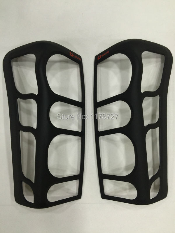 FREE SHIPING FOR ISUZU D-MAX Black front & tail lamp coer  Head & Back light cover  4PCS,DMAXaccessory D-MAX accessories free shiping for isuzu d max black front