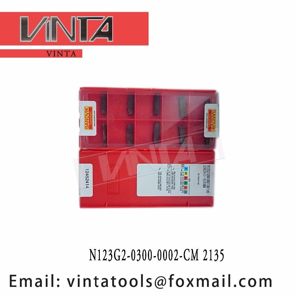 Free Shipping High Quality N123G2-0300-0002-CM 2135  Cnc Carbide Glooving Inserts