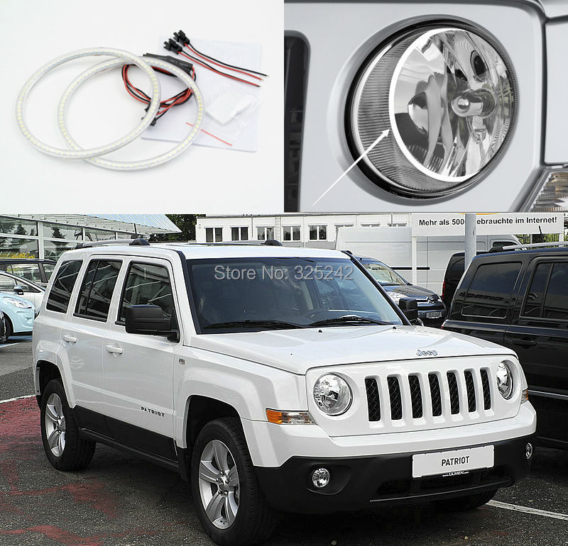 ФОТО For Jeep Patriot 2007 2008 2009 2010 2011 2012 2013 Excellent Angel Eyes Ultrabright illumination smd led Angel Eyes kit