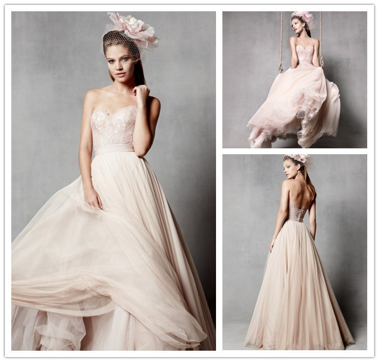 Online Shop 2015 New Fashion A-line Floor Length Sweetheart Neck ...