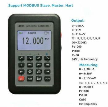 New LB06 Hart Modbus 4~20mA/0~10V Process Calibrator Current Signal Generator Source high precision handheld portable 4 20ma 0 10v signal generator adjustable current voltage analog simulator with led display