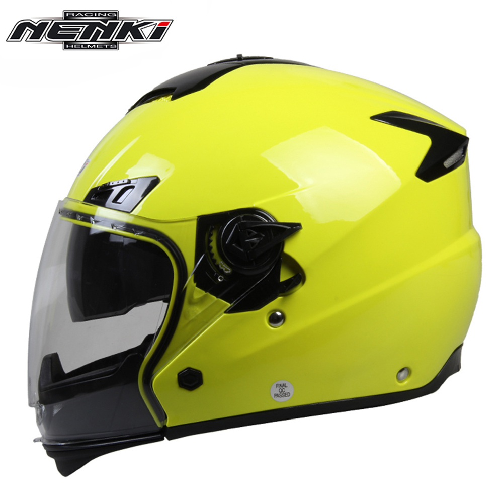 ФОТО NENKI full face helmets motorcycle winter helmet Motor Racing Motorbike Riding Helmet Dual Visor Sun Shield Lens