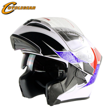 2017 двойной линзы мотоциклетный шлем анфас cap модульная capacete каско dot утверждения cyclegear ff902
