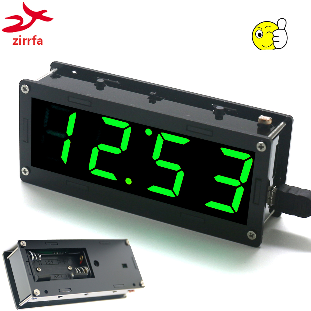 Electronic DIY Kit High precision DS3231 1 inch digital <font><b>tube</b></font> Clock Kit <font><b>4</b></font>-digit Display with Case Diy Kit Electronic image