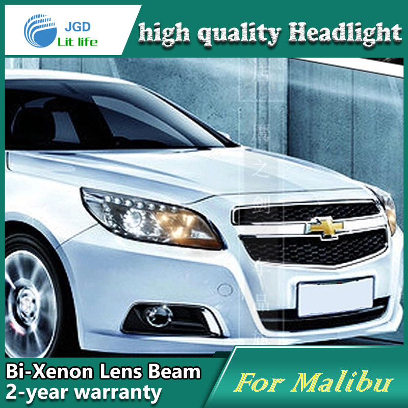цена на Car Styling Head Lamp case for Chevrolet Malibu 2012 2013 Headlights LED Headlight DRL Lens Double Beam Bi-Xenon HID Accessories