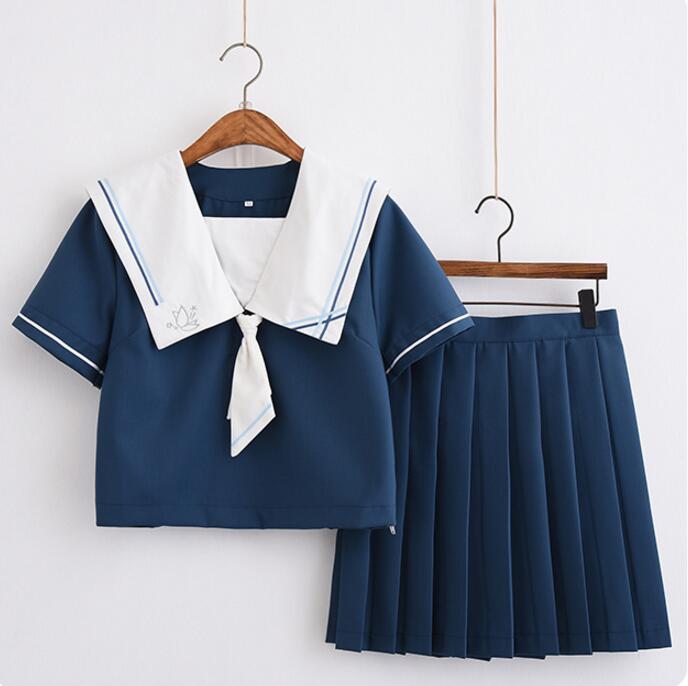 2018 летняя школьная форма набор студент равномерное галстук костюм моряка набор Настольный костюм японская школьная форма для девочек с кор...