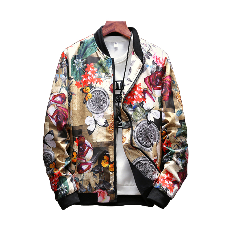 Women's print   Jackets   2019 Autumn Loose Causal windbreaker Women   Basic     Jackets   Coats Zipper Lightweight   Jackets   Bomber Famale
