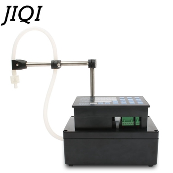 JIQI Electrical liquids filling machine MINI bottled water filler Digital Pump For perfume drink water milk olive oil 110V 220V 1