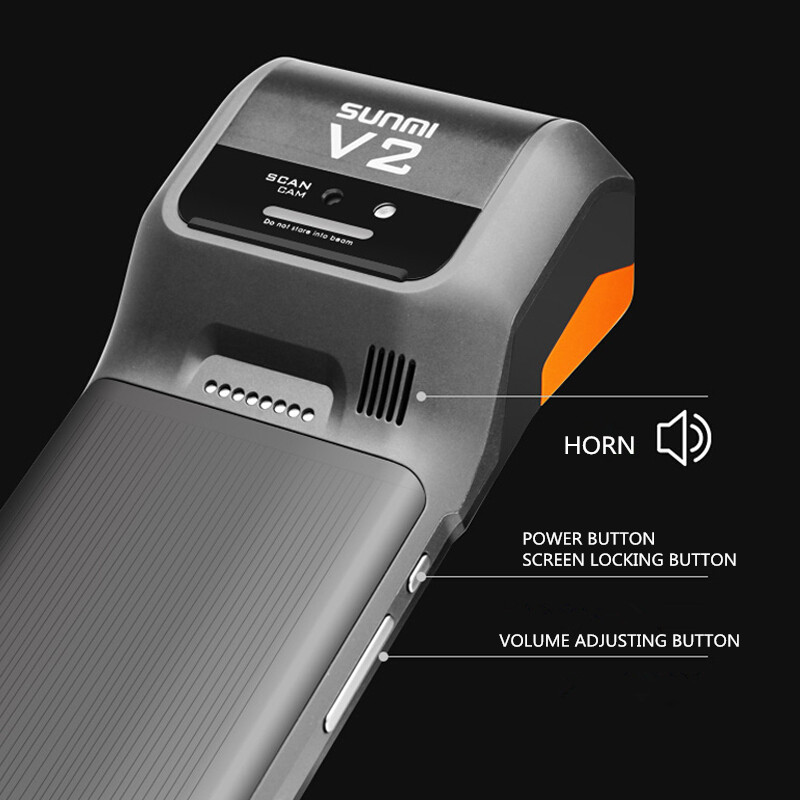 US $279 0 |Sunmi V2 pro 4G Android Handheld POS Terminal With Printer WIfi  NFC Mobile POS Devices with Barcode Scanner-in Printers from Computer &