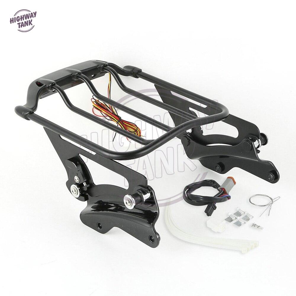 Мотоцикл багажник светодиодный стоп-сигнал с 4 точки стыковки оборудования случая комплекты для моделей туринг Харлей 2014-2017
