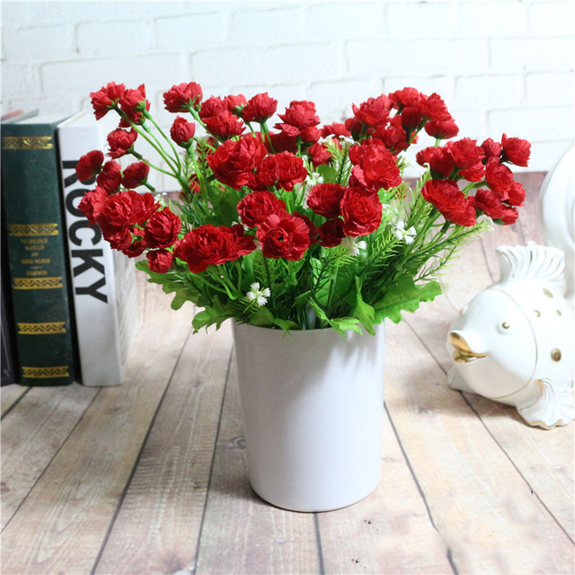 high quality red carnation flower 1 bouquet 5 heads carnation