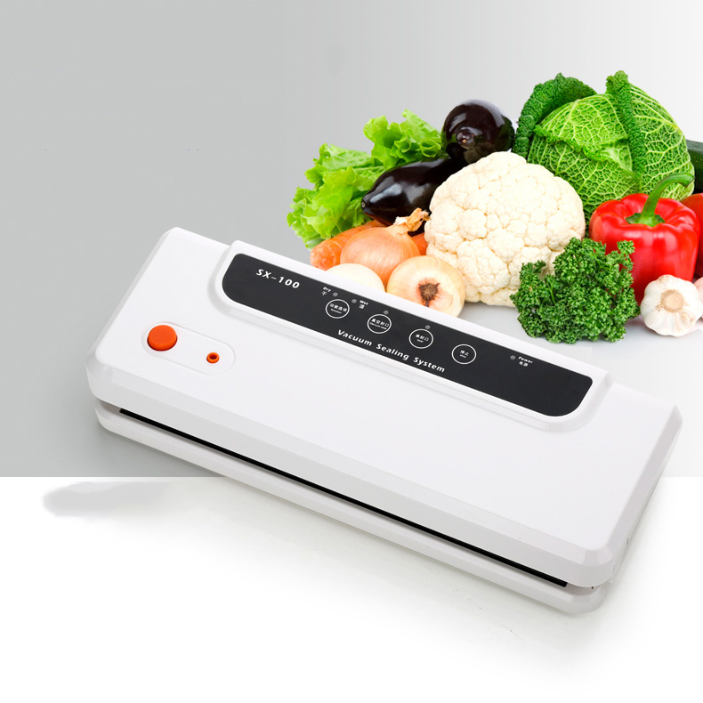 SX-100 Automatic small household/commercial Vacuum Sealing Machine 100-240V Food Sealer Vacuum Packing Machine new automatic household and commercial wet and dry dual use electric vacuum food sealer machine