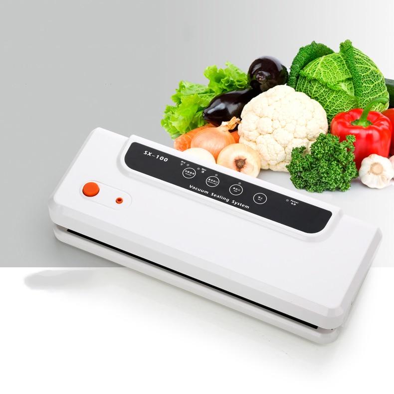 SX-100 Automatique petit ménage/commerciale Machine À Sceller Sous Vide 100-240 v Scellant Alimentaire Sous Vide Machine à Emballer