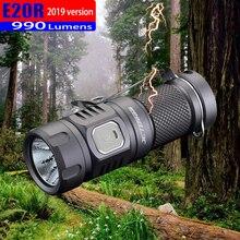 2019 jetbeam e20r edc 랜턴 cree sst40 n4 bc led 990 루멘 4 모델 메모리 기능 사이드 스위치 16340 손전등