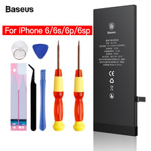 Baseus Mobile Phone Battery For iPhone 6s 6 s Plus 6p Original Internal Bateria Replacement Real Capacity Batterie For iPhone6(China)