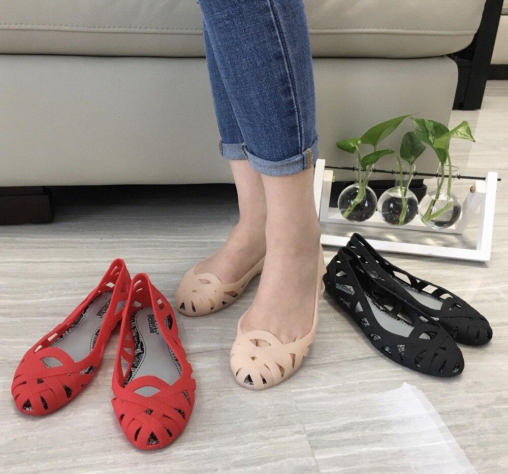 Melissa Women Sandals Shoes Roman Breathable Sandals 2019 Melissa Ladies Jelly Shoes Sandals  Beach Sandals