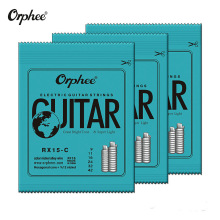 Orphee 6pcs/set Colorful Nickel Alloy Electric Guitar Strings High Carbon Steel Accessories