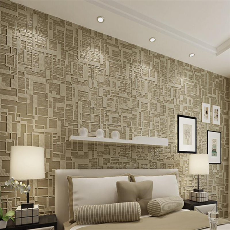 Beibehang Modern geometric 3d wallpaper high - end living room bedroom wallpaper thick 3D TV film and television 3d wallpaper beibehang chinese high end 3d