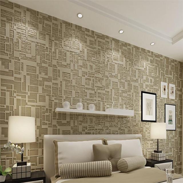 high end living room. Beibehang Modern geometric 3d wallpaper high  end living room bedroom thick 3D TV film