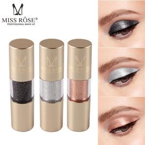 Image 2 - MISS ROSE 8 kolor metalowy cień do powiek Shimmer ciepłe kolory wodoodporny połysk z wzorem pojedynczego oka cień płyn matowy makijaż cień TSLM2