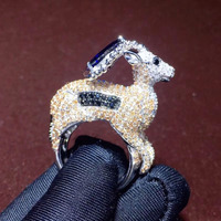 Qi Xuan_Trendy Jewelry_Luxury палевый S925 стерлингового серебра на указательном пальце Rings_S925 серебряные модные Rings_Factory прямые продажи