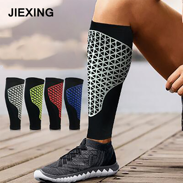 ece607782f 1 Pair Running Cycling Footbal Calf Sleeves Sports Shin Guards football  leggings Leg Warmers Gym Compression Socks accessories