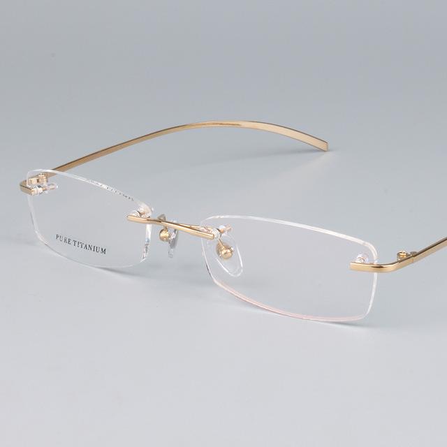 Prescrição FramesTitanium Luz Sem Aro Designer de Qualidade Óculos de Armação para Homens e Mulheres